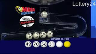 2017 10 17 Mega Millions Numbers and draw results