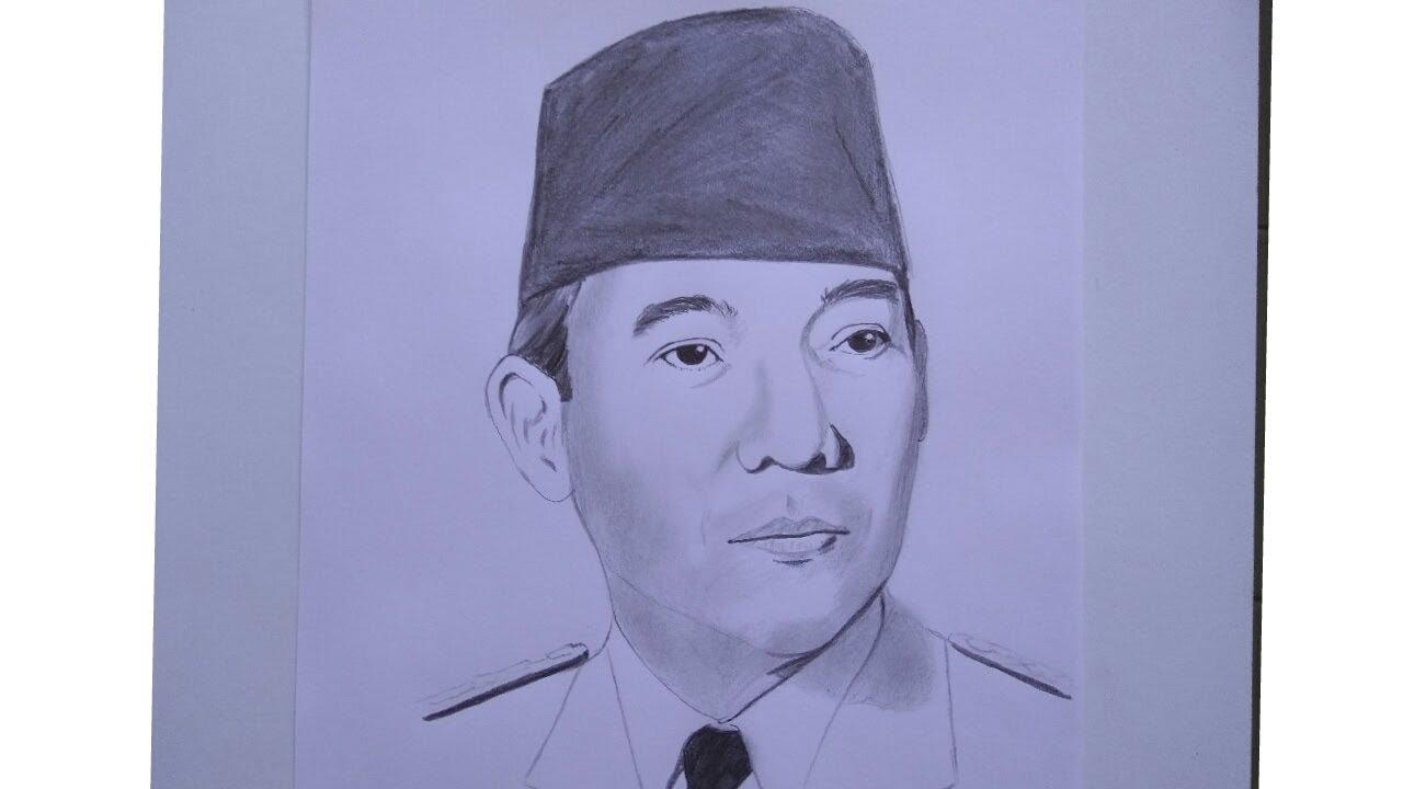 Sketsa Gambar Pahlawan Gampang