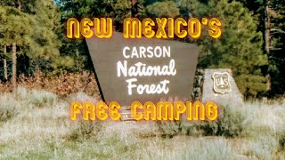 New Mexico's Carson Natİonal Forest Free Camping