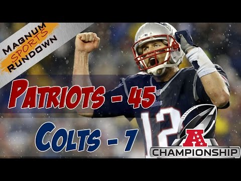 Patriots Beat Colts 45-7 AFC Championship || MSR