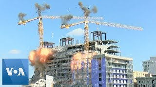 Cranes Demolished Over Hard Rock Hotel ...