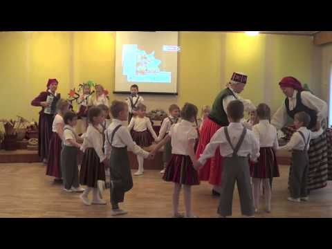 "Latvian folk game ""Mēs ejam caur'' (""We're going through"")"