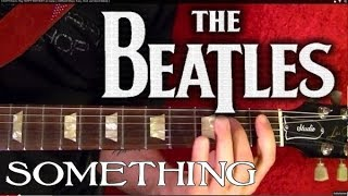 something - the beatles  guitar lesson
