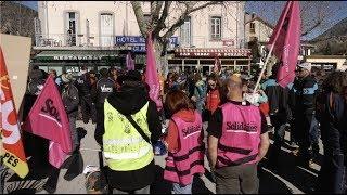 Ski : les saisonniers font grève (15 février 2020, Argentière (Alpes), France)