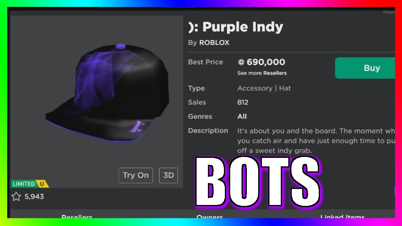 Purple Indy Roblox The History Of Roblox Bots Youtube