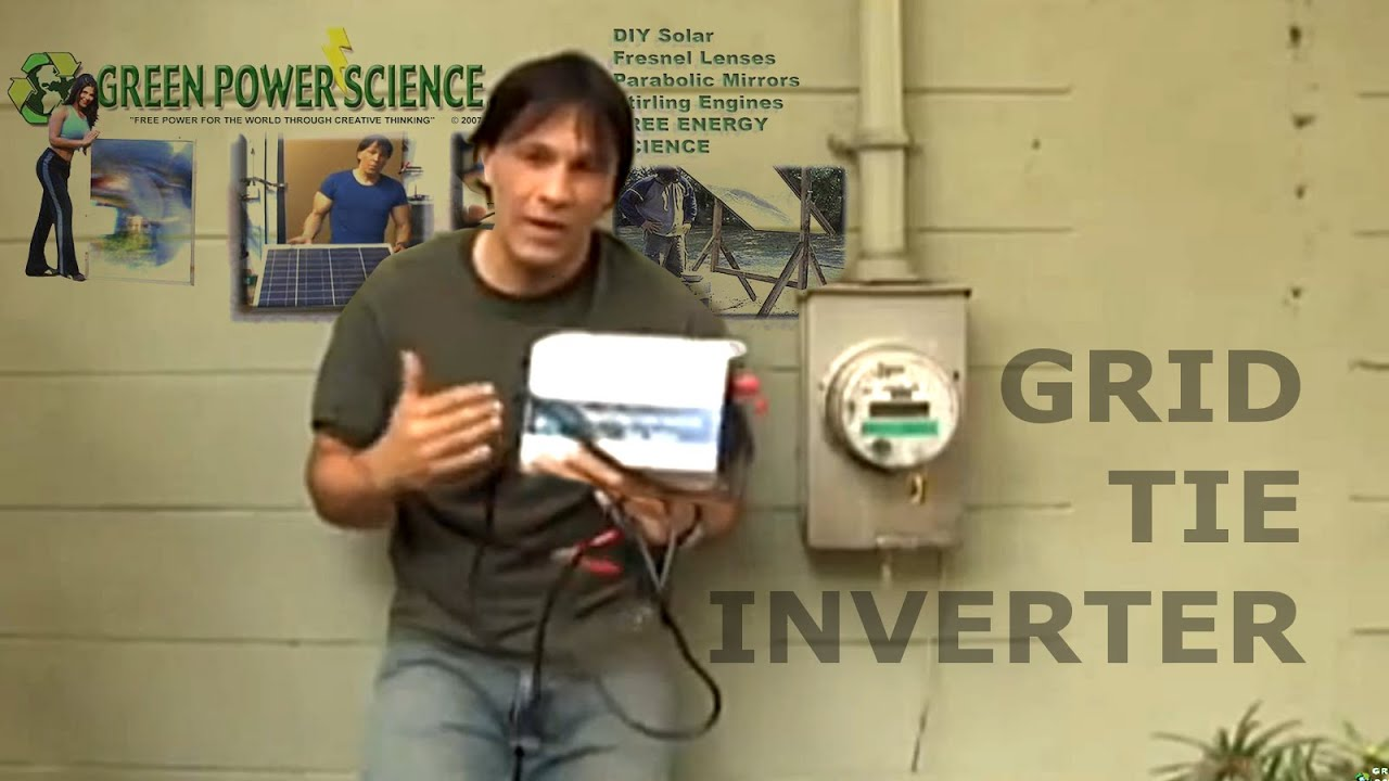 Grid Tie Inverter Solar Panel Power Easy Electricity Savings Youtube Wiring