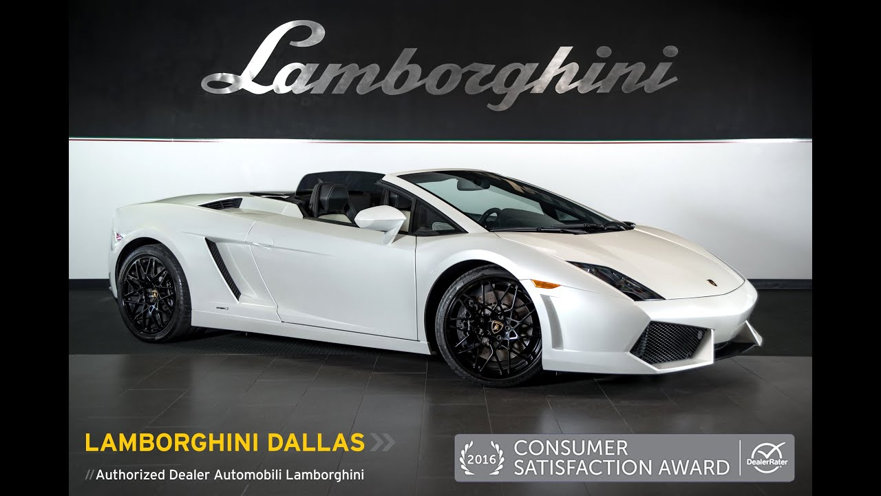 2011 Lamborghini Gallardo Lp 560 4 Spyder Balloon White L0853 Youtube