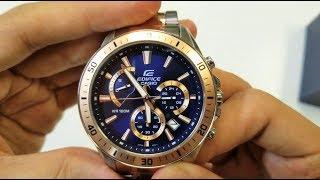 Casio Edifice watch EFR-552SG-2AV Unboxing