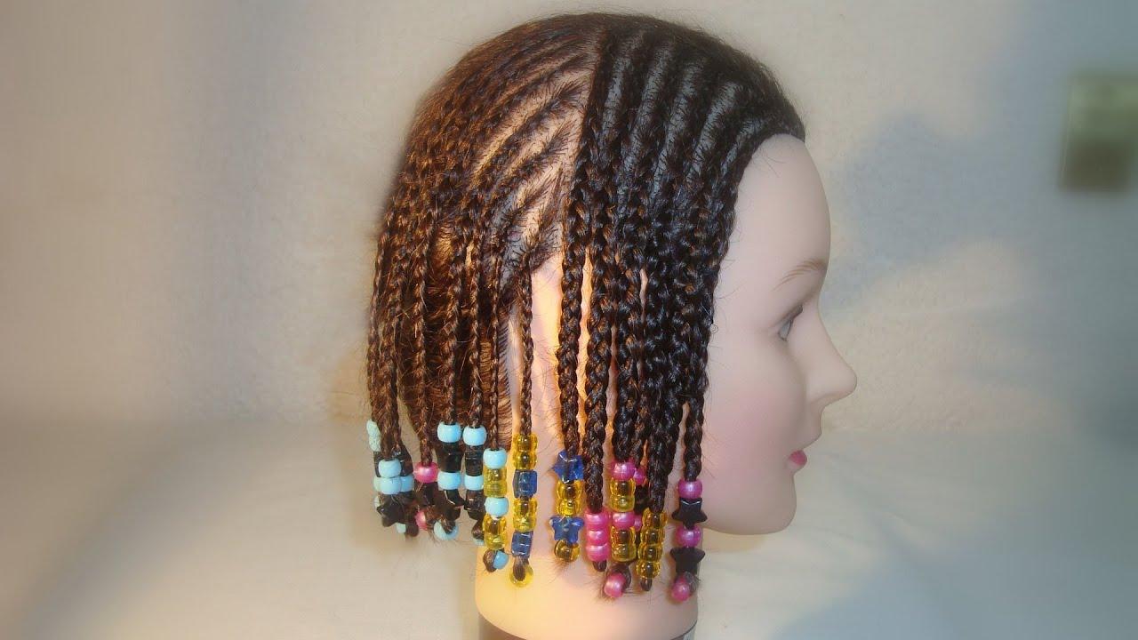 Cornrows poner o adornar con cuentas o bolitas el final - Como realizar peinados ...
