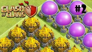 Clash of Clans   Blazing World Million Raids Epiode 2 semi farm troops