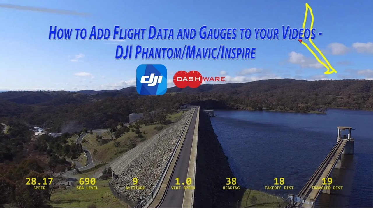 How to Add Flight Data and Gauges to Your Videos - DJI  Phantom/Mavic/Inspire - Dashware