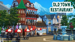 Old Town Restaurant Part 1 || The Sims 4: Speed Build