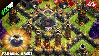Clash Of Clans -  TH9 (TOWN HALL 9) Trophy Base/Farming Base/ 2017