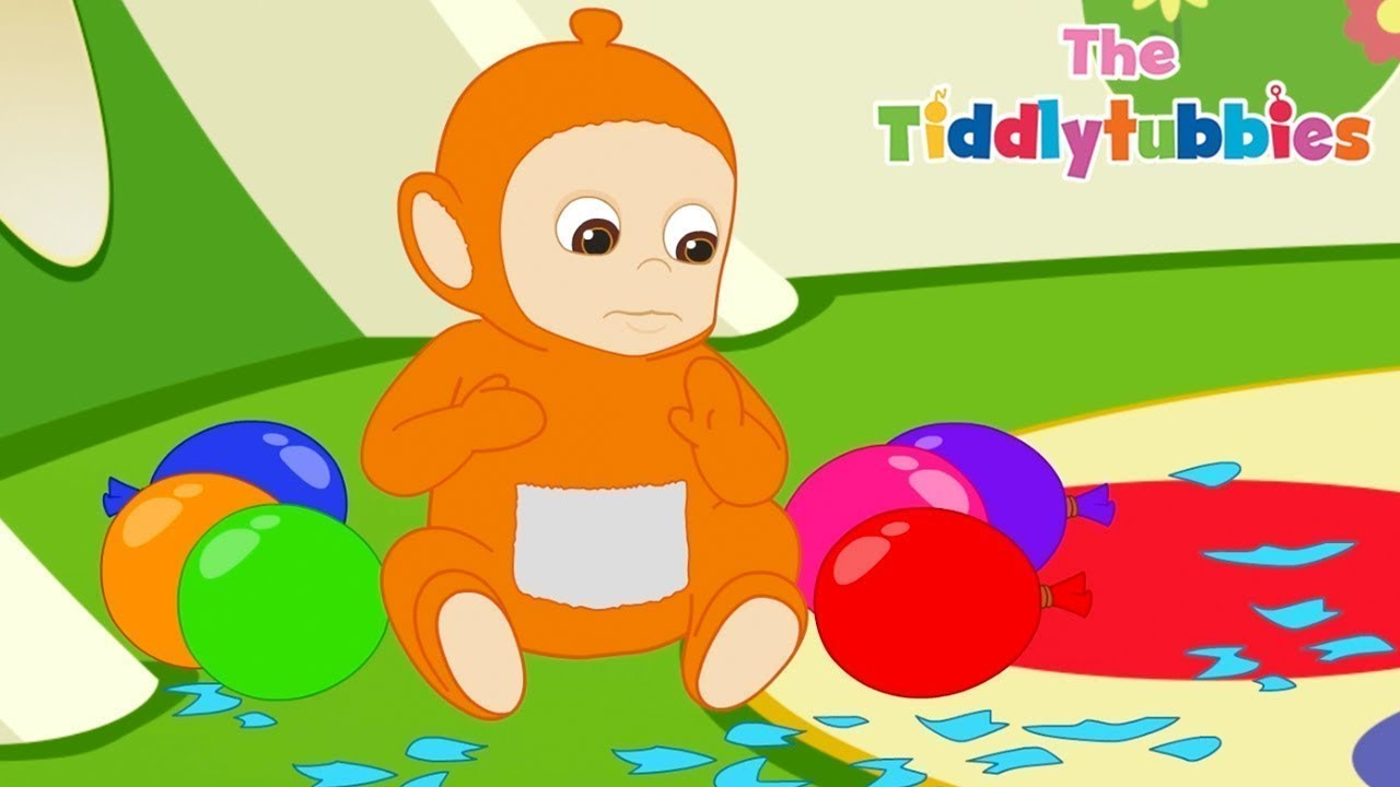 Tiddlytubbies 2D Series! ★ Episode 7: Balon Popping! ★ bayi Teletubbies ★ Komik