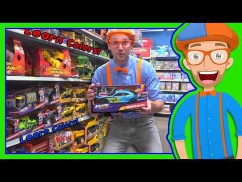Learn Colors with Blippi Toy Store in 4K - Educational videos for Preschoolers