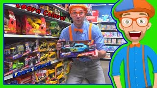 Repeat youtube video Learn Colors with Blippi Toy Store in 4K - Educational videos for Preschoolers