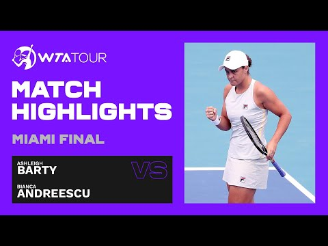 Ashleigh Barty vs. Bianca Andreescu | 2021 Miami Open Final | WTA Match Highlights