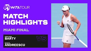 Ashleigh Barty vs. Bianca Andreescu | 2021 Miami Open Final | WTA Match Highlights