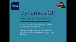 Year End Process with Microsoft Dynamics GP