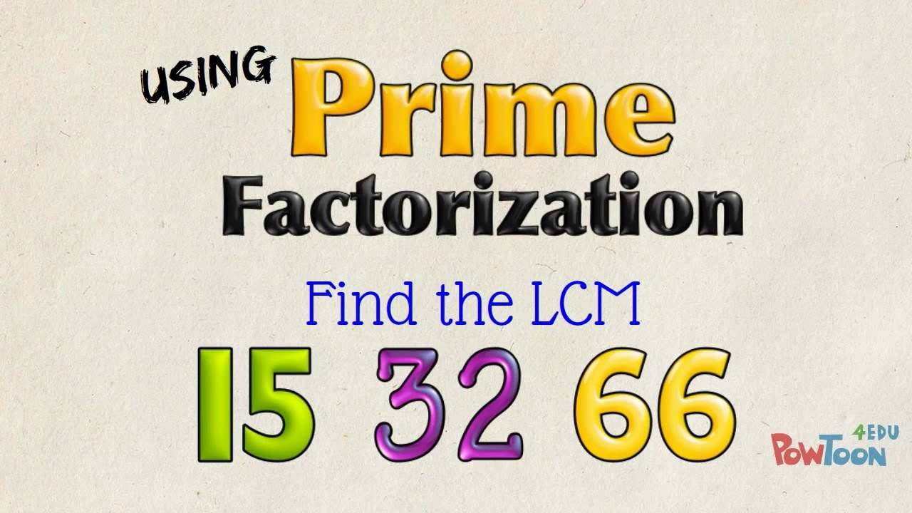 Worksheet Lcm Of 15 And 10 find lcm of 15 32 and 66 using prime factorization 2 take it further