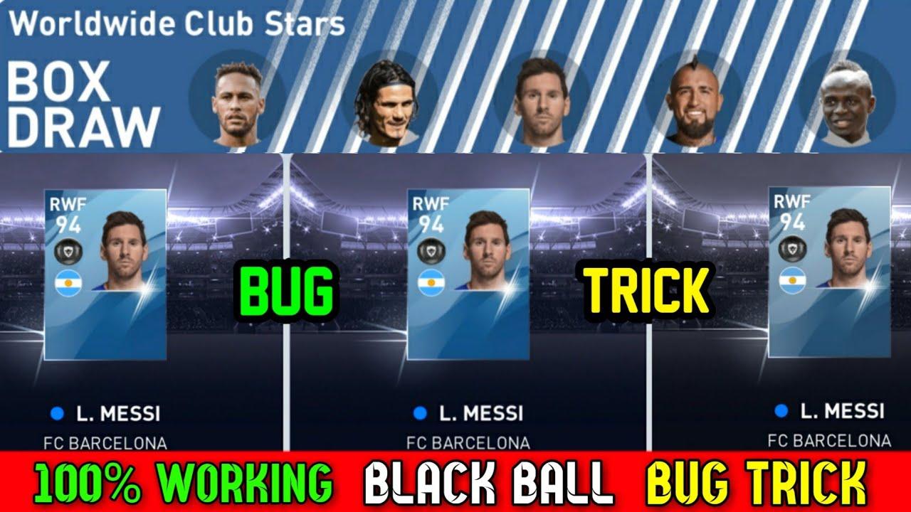 100% Working Black Ball Bug Trick in Worldwide Club Stars Box Draw || Pes 2020 Mobile