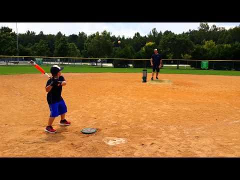 Jake (age 7)  Goes 170' With New Mako Bat