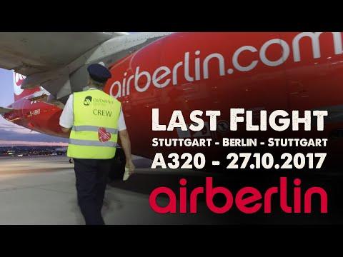 Goodbye Air Berlin - letzter Flug nach Stuttgart - 27.10.2017