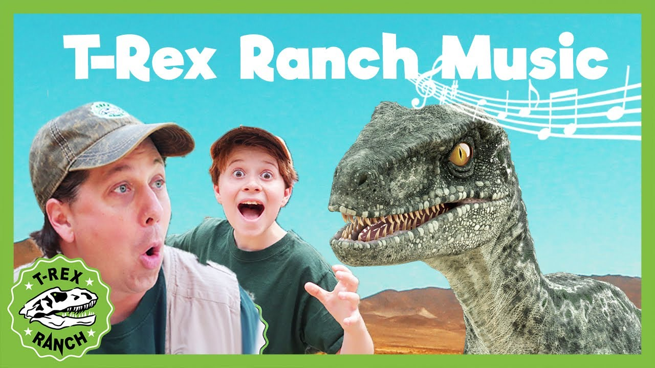 T-Rex Ranch Songs For Kids! T-Rex Songs! Giant T-Rex! Music For Kids! Dinosaur Songs!