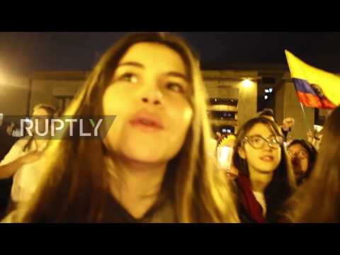 Colombia: Protesters march against rejection of FARC peace deal