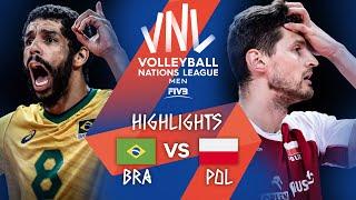 Brazil vs. Poland - Highlights Gold | Men's VNL 2021