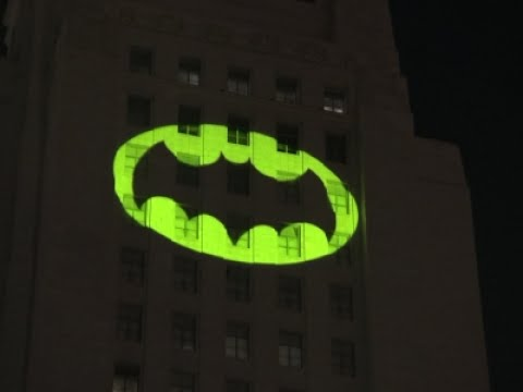 BatSignal lit up for Adam West