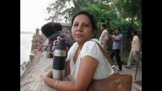 Narmada river view from Maheshwar fort