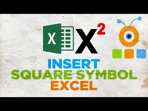 How To Type A Square Symbol In Excel | How To Insert Square Symbol In Excel