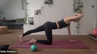 Pilates Mat with Chi ball and Garuda weight transference map 05.12.2020