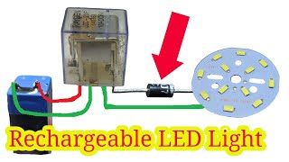 How to make rechargeable light   ,   emergency light