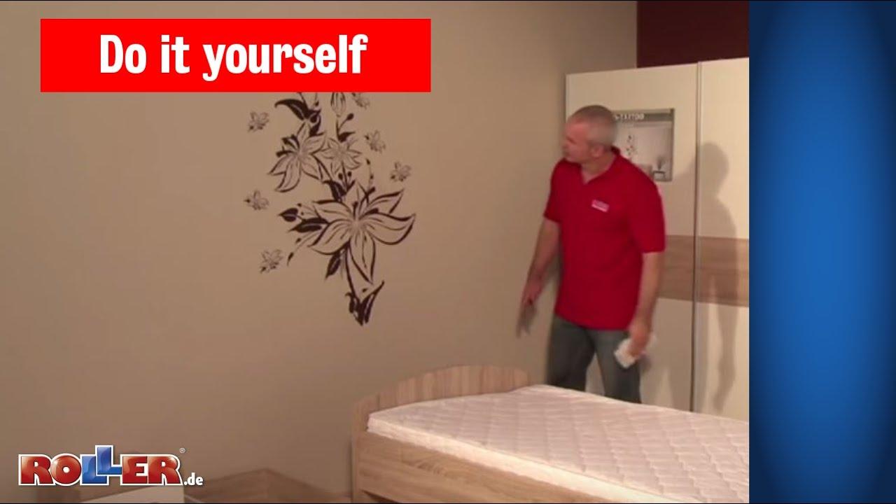Verschiedene Wandtattoo Auf Rauputz Beste Wahl Anbringen Und Wandmotive Befestigen - Roller Do