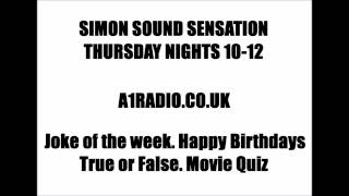 thursdays on a1radio.co.uk 10pm
