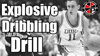bobby hurley dribble warm up   explosive ball handling drill   pro training basketball