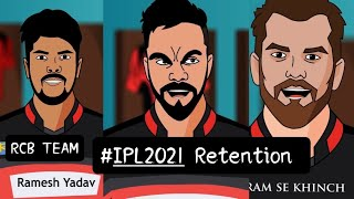 #IPL2021 RCB Team Retention Spoof
