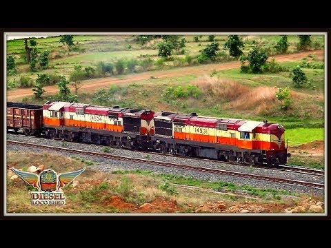 GRACEFUL VSKP ALCOS Lead while a SURPRISE Silently TRAILS !! Indian Railways