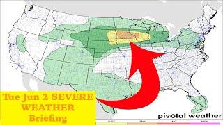 Tue Jun 2 SEVERE WEATHER Briefing | EF-Meteorology