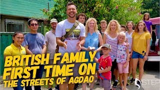 British Family First Time Walking The Streets Of Agdao And Eating Durian Davao Philippines