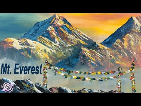 Quick Painting-Mt. Everest  | Mountain Painting | Nepali Artist | Art Candy