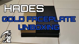 Gold PS4 Custom Faceplate Unboxing + Fitting