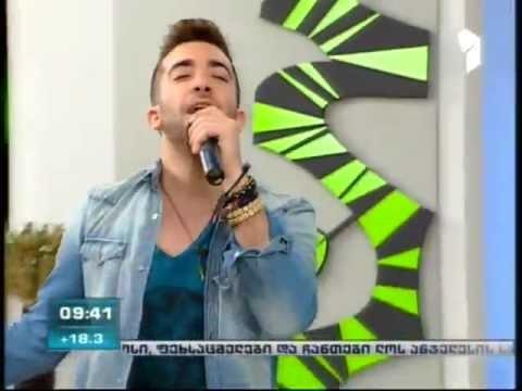 "Kurt Calleja (Malta at Eurovision 2012) in ""Our Morning"" show (Georgia)"