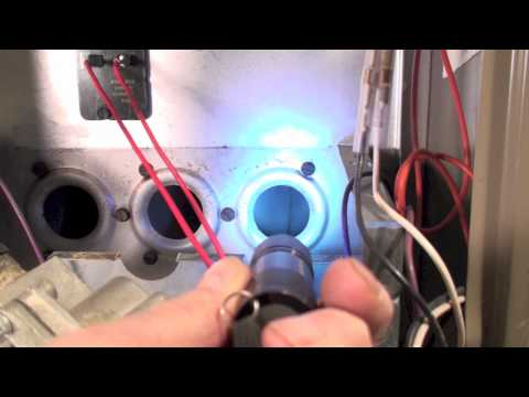 How to service the 80% AFUE gas furnace, check blower, clean burners and check heat exchanger Part 6