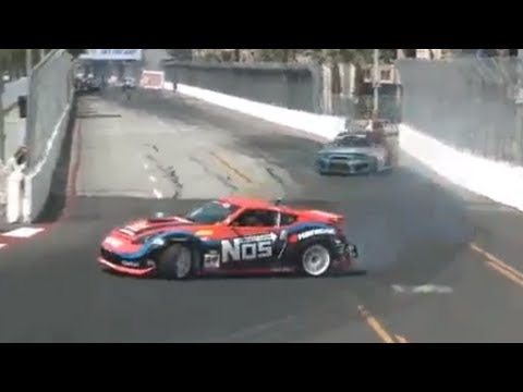 TONY ANGELO vs CHRIS FORSBERG During Top 32 2012 Formula Drift Round 1 @ Long Beach California