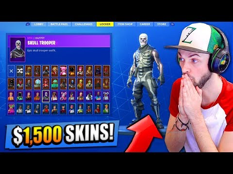 Ali-A's $1,500 SKIN COLLECTION! - Fortnite: Battle Royale (RARE SKINS)