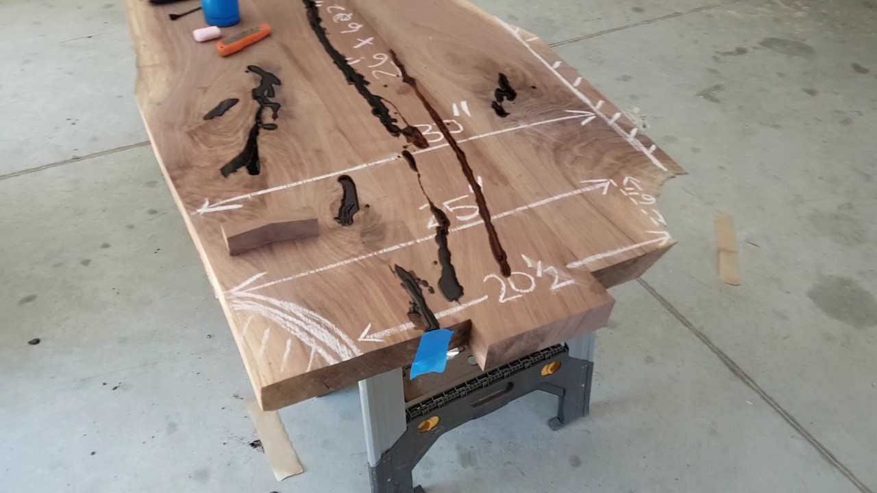 To Epoxy Fill Or Not Live Edge Urban Wood Furniture Youtube