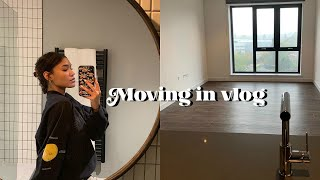 MOVING IN VLOG! Empty tour, unpacking & buying furniture | Ep 1
